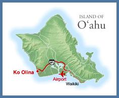 map to Ko Olina